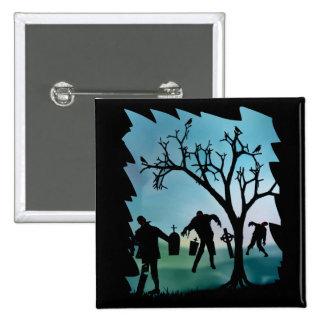 Zombie Apocalypse or Zombie Walkbutton Pinback Buttons