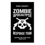 Zombie Apocalypse Pack Of Standard Business Cards