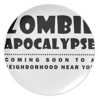 Zombie apocalypse plate