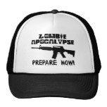 Zombie Apocalypse Prepare Now Trucker Hats