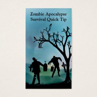 Zombie Apocalypse Quick Tip Card