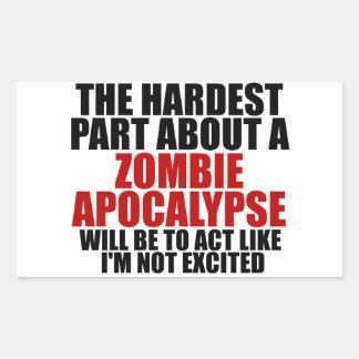 Zombie Apocalypse Rectangular Sticker