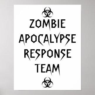 zombie apocalypse response team poster