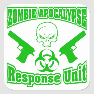 Zombie Apocalypse Response Unit Square Sticker