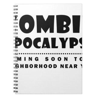 Zombie apocalypse spiral notebook