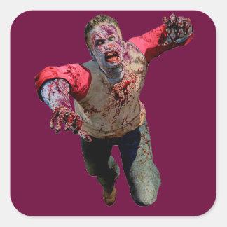 #zombie apocalypse square sticker