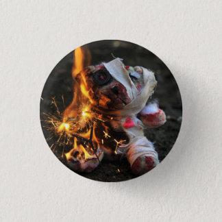 Zombie Apocalypse Teddy Bear 3 Cm Round Badge