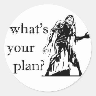 Zombie Apocalypse: What's Your Plan? Sticker