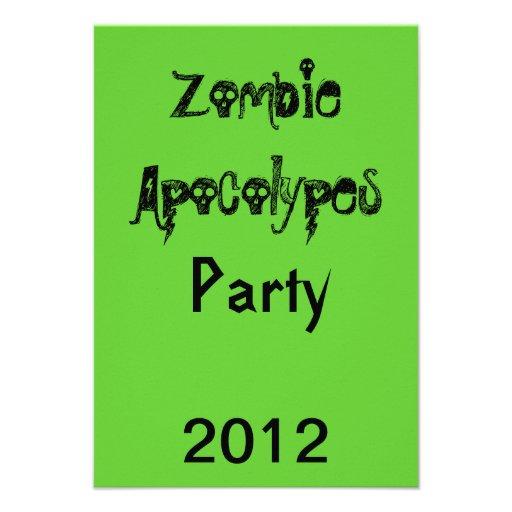 Zombie Apocolypes Invite *Green*