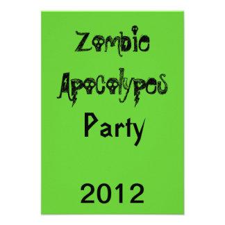 Zombie Apocolypes Invite Green