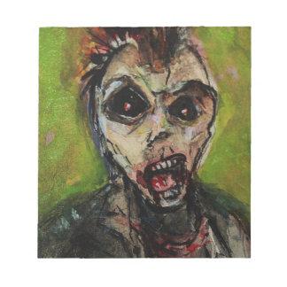 Zombie Apocolypse Art Notepad