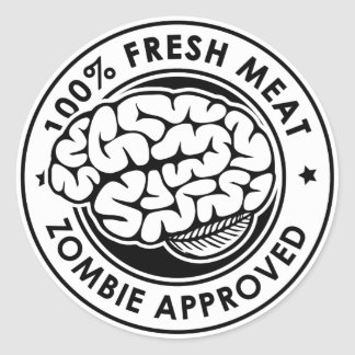 Zombie Approved Classic Round Sticker