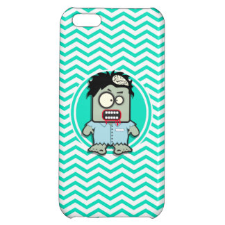 Zombie; Aqua Green Chevron iPhone 5C Cover