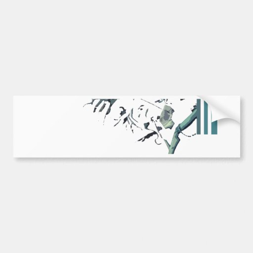 Zombie Arms and Stripes Bumper Stickers