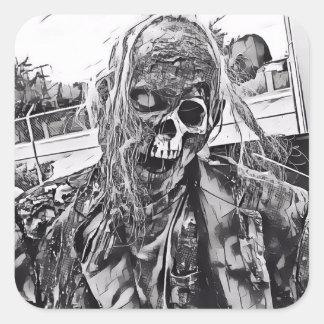 Zombie Art Square Sticker