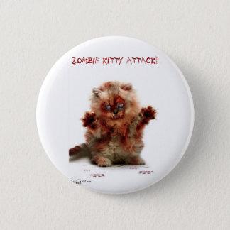 Zombie attack 6 cm round badge