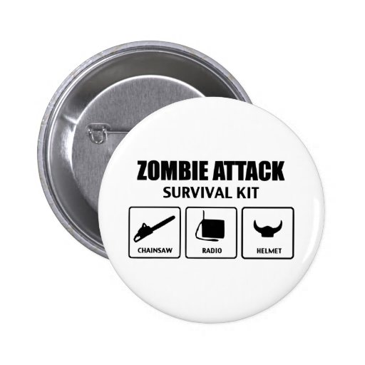zombie attack survival kit buttons