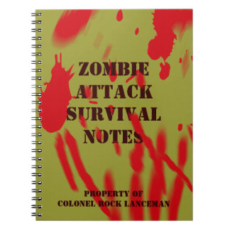 Zombie Attack Survival Notes Spiral Notebook