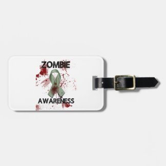 Zombie Awareness Ribbon - Luggage Tag