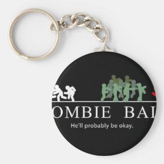 zombie bait basic round button key ring