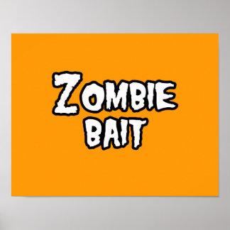 ZOMBIE BAIT - - Halloween Poster