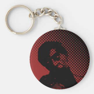Zombie Basic Round Button Key Ring