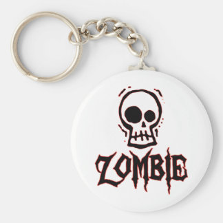 Zombie Basic Round Button Key Ring