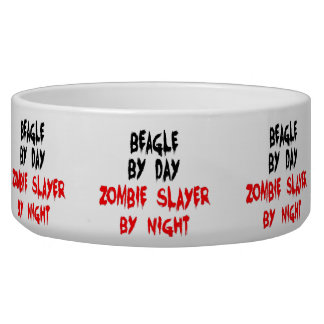 Zombie Beagle Dog Joke Pet Bowl