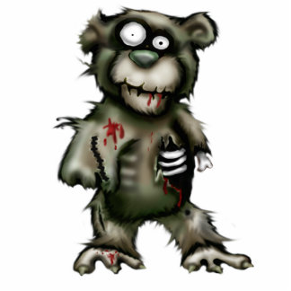 zombie bear standing photo sculpture