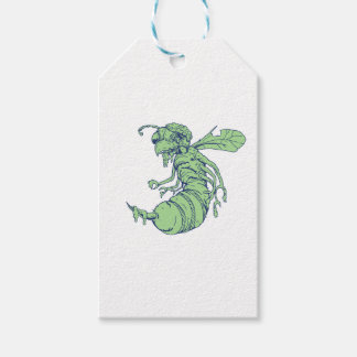 Zombie Bee Cartoon Gift Tags