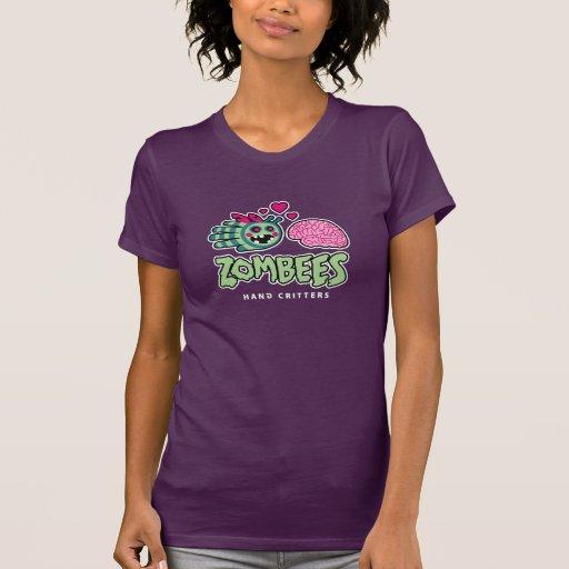 Zombie bee loves brain t-shirt