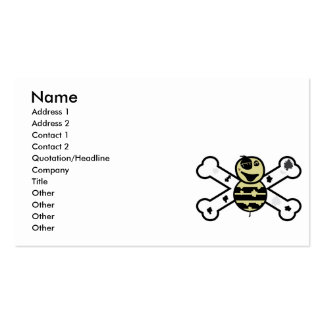 zombie bee zombee and crossbones pack of standard business cards
