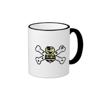 zombie bee zombee and crossbones coffee mugs