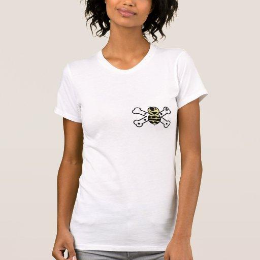 zombie bee zombee and crossbones tee shirt