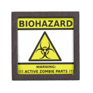 Zombie Biohazard Sign Premium Gift Boxes