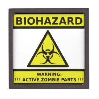 Zombie Biohazard Sign Premium Trinket Box