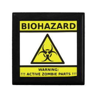 Zombie Biohazard Sign Small Square Gift Box
