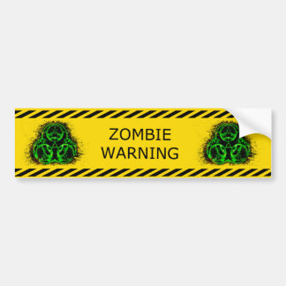 Zombie Biohazard Warning Bumper Sticker