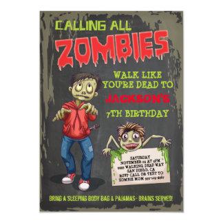Zombie Birthday Party Invitations
