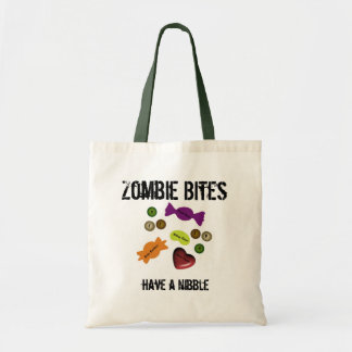 Zombie Bites Tote Canvas Bags