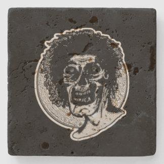 Zombie Black & White Illustration Stone Coaster