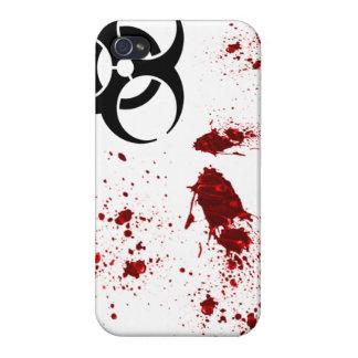Zombie Blood Splatter Biohazard iPhone 4 Case