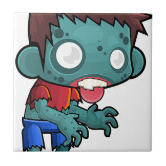 Zombie Boy Comic Ceramic Tile