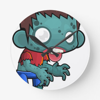 Zombie Boy Comic Round Clock