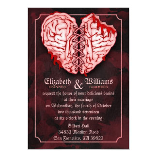 Zombie Brains Wedding Invitation