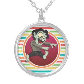 Zombie Bright Rainbow Stripes Custom Necklace