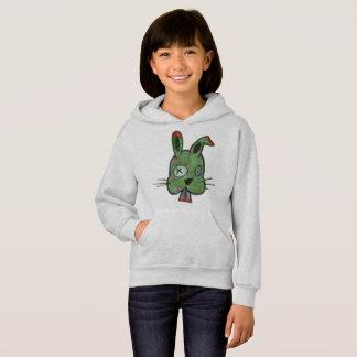 """""""Zombie Bunny"""" Girls' Hanes ComfortBlend® Hoodie"""