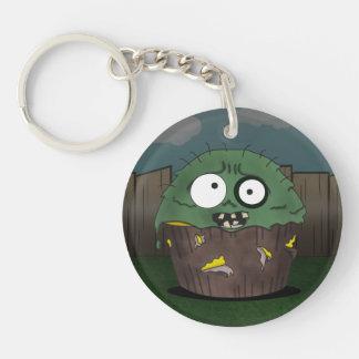 Zombie Cake Single-Sided Round Acrylic Key Ring