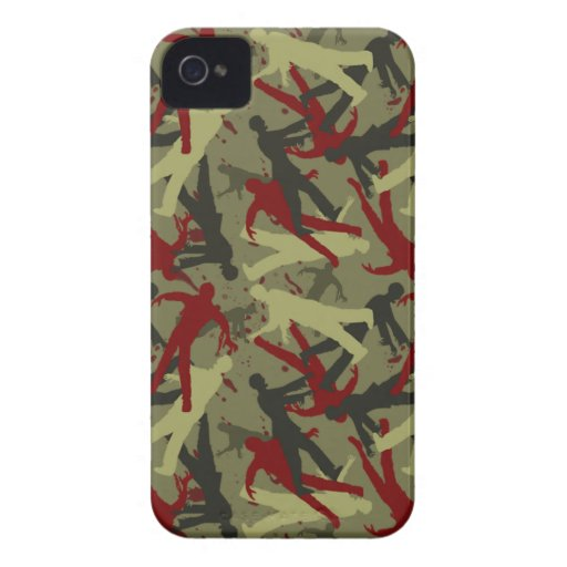 Zombie Camo Pattern iPhone 4 Case
