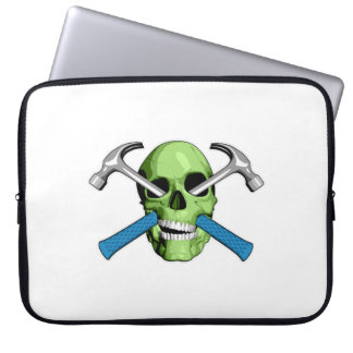 Zombie Carpenter Skull Computer Sleeves
